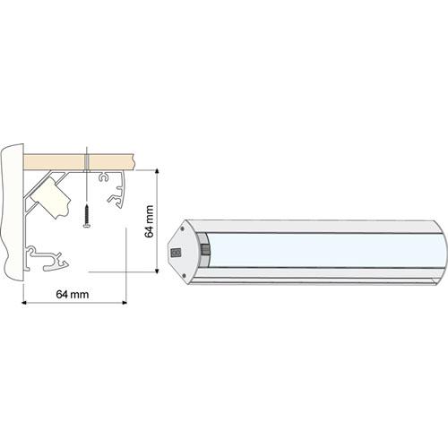Koksbelysning Tak : Bonkbelysning Beslag Design New Corner Multi Aluminium