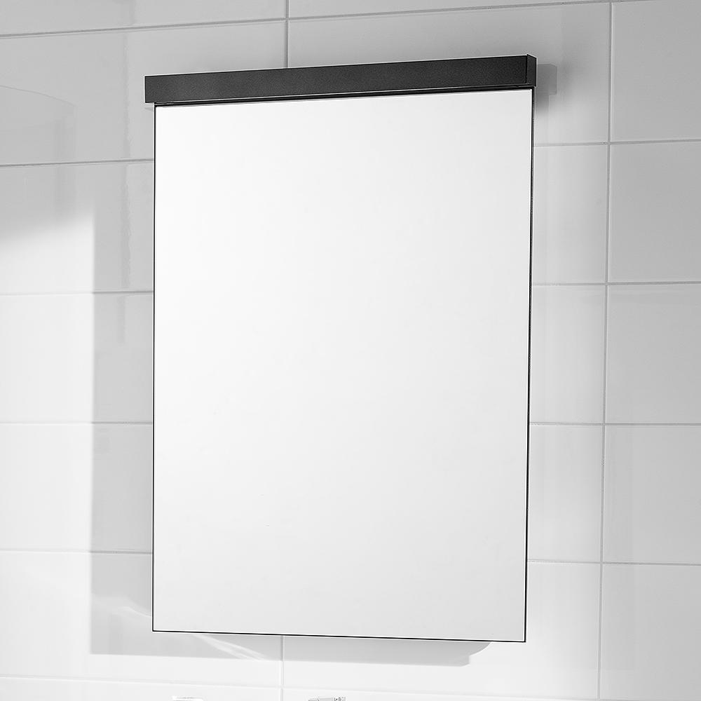 Spegel Svedbergs med Lysrörsbelysning Svart Speglar