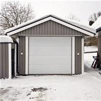 Klicka här för att gå till Garageport Nordiso Stripe Vit 2500 x 2150 mm