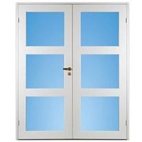Klicka här för att gå till Parinnerdörr Contur Vit Klarglas 3-Spegel