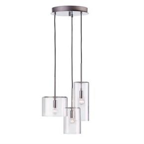 Taklampe LampGustaf Rockford Pendel Krom/Klar