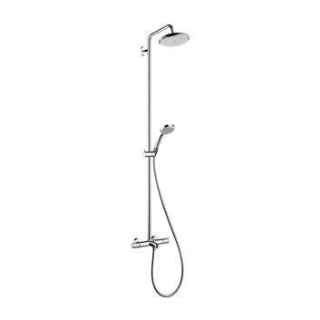 takduschset hansgrohe croma 220 showerpipe med badkarsblandare set med blandare. Black Bedroom Furniture Sets. Home Design Ideas