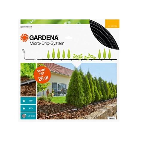 bevattningsstartset gardena micro drip system m f r plantrader utan timer automatbevattning. Black Bedroom Furniture Sets. Home Design Ideas