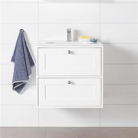 Litet tvättställ med underskåp