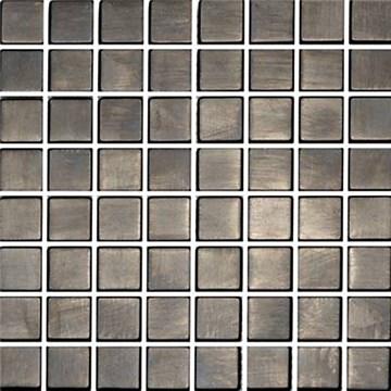 Metallmosaik CC Höganäs Borstad Svart 30x30 9905-02G809