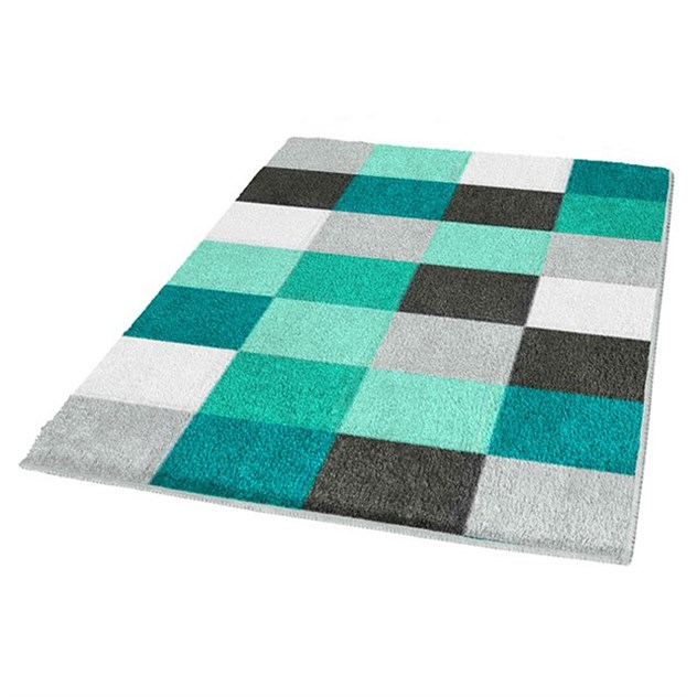 badrumsmatta kleine wolke caro fyrkantig petrol 5426675539. Black Bedroom Furniture Sets. Home Design Ideas